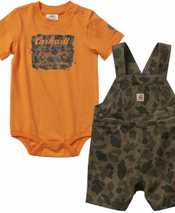 Carhartt Boys' Infant Camo Shortall Set #CG8731