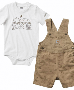 Carhartt Boys' Infants Printed Shortall Set #CG8728