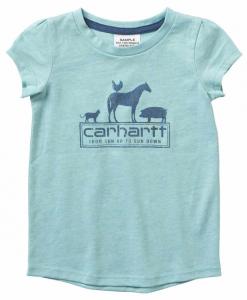 Carhartt Girls' S/S Heather Tee #CA9760