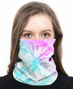 Briarwood Lane Tie Dye Wrap-Around Face Covering Neck Gaiter #B020
