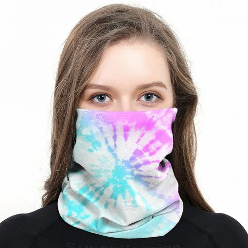 Briarwood Lane Tie Dye Wrap-Around Face Covering Neck Gaiter #B020