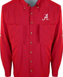 Drake Men's Alabama L/S Mesh Back Flyweight Shirt #SD-ALA-7101