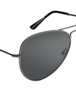 Blue Otter Polarized Sunglasses Coosa XL Gun Metal-Hidden Graphite Nylon