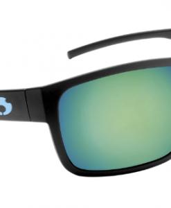 Blue Otter Polarized Sunglasses Rabun Matte Black-Deep Green Nylon