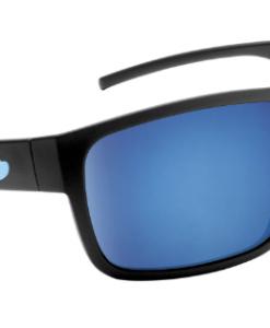 Blue Otter Polarized Sunglasses Rabun Matte Black-Pacific Blue Nylon