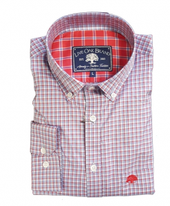 Live Oak Men's Biloxi Plaid Twill Sport Shirt