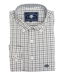 Live Oak Men's Melange Check Sport Shirt