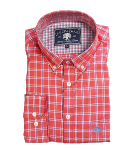 Live Oak Men's Plaid Twill Sport Shirt