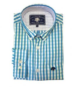 Live Oak Men's Two Color Gingham Sport Shirt